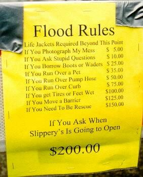 Slippery S Flood Rules
